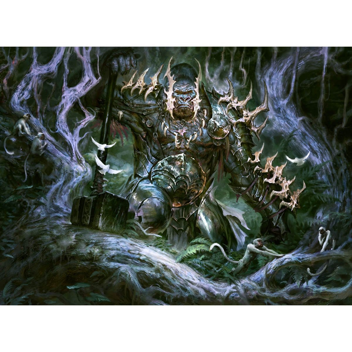 Grunn, the Lonely King Print - Print - Original Magic Art - Accessories for Magic the Gathering and other card games