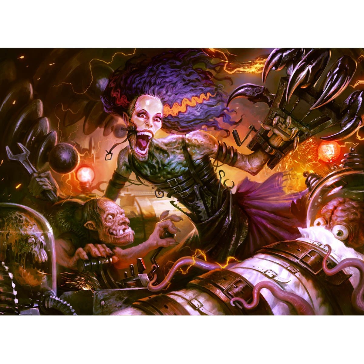 Grusilda, Monster Masher Print - Print - Original Magic Art - Accessories for Magic the Gathering and other card games