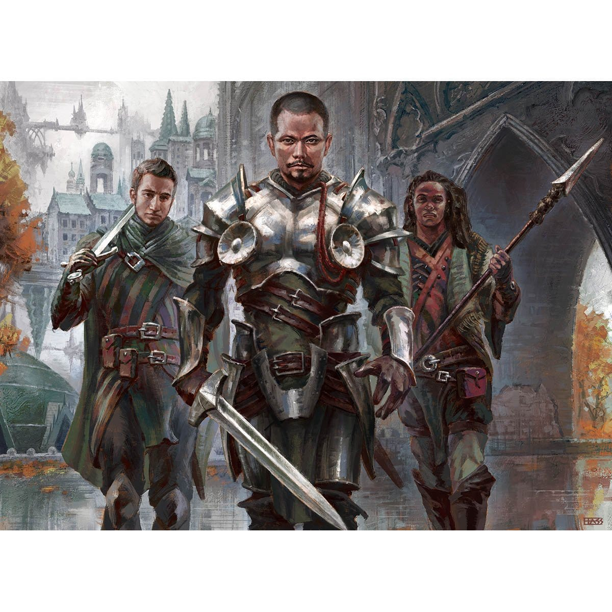 Haazda Marshal Print - Print - Original Magic Art - Accessories for Magic the Gathering and other card games