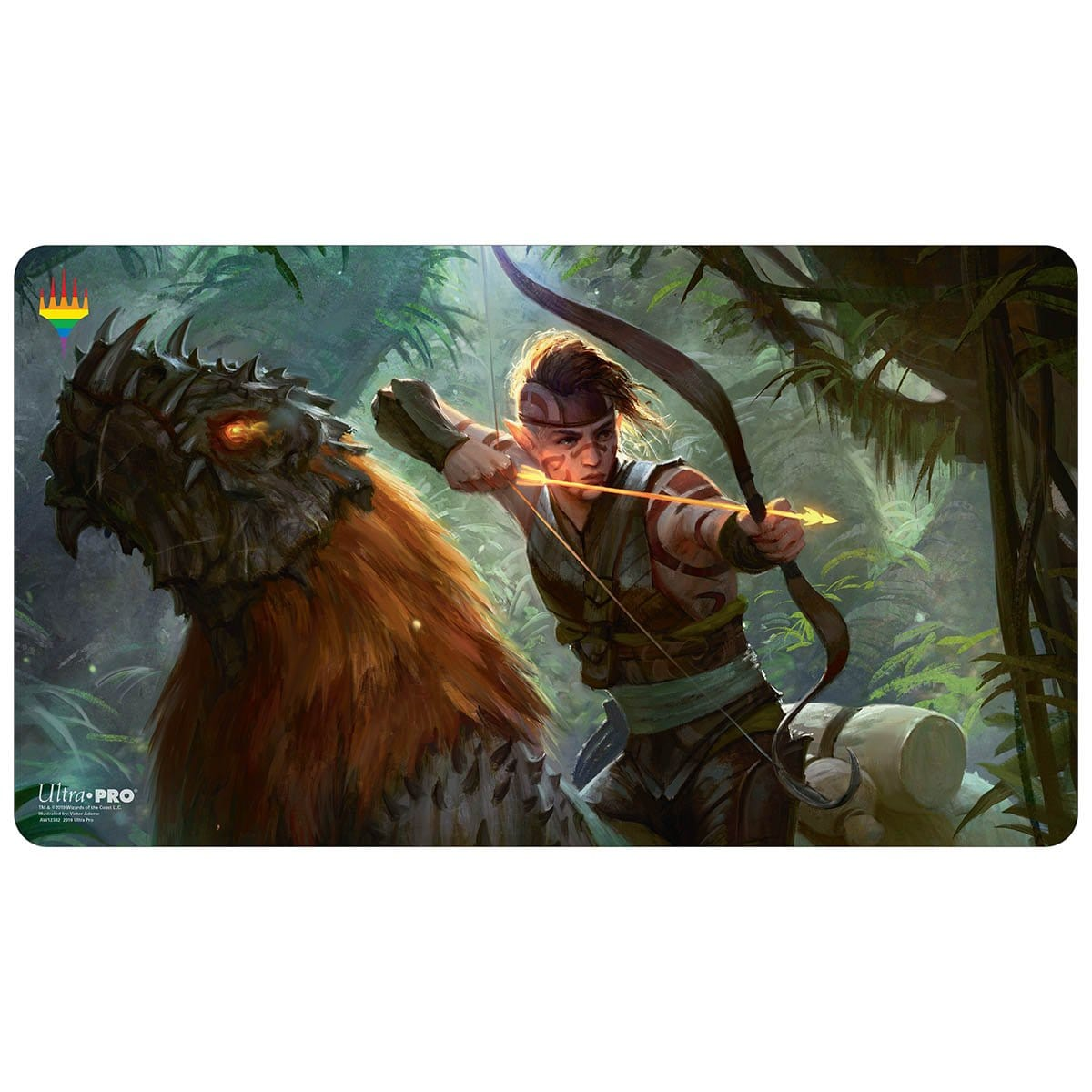 Hallar, the Firefletcher Playmat - Pride 2019 - Playmat - Original Magic Art - Accessories for Magic the Gathering and other card games