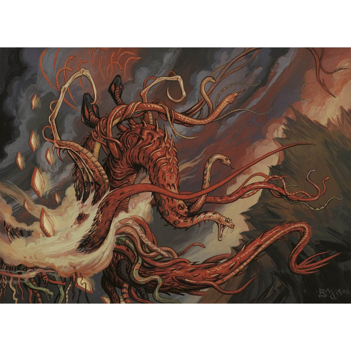 Hateflayer Print - Print - Original Magic Art - Accessories for Magic the Gathering and other card games