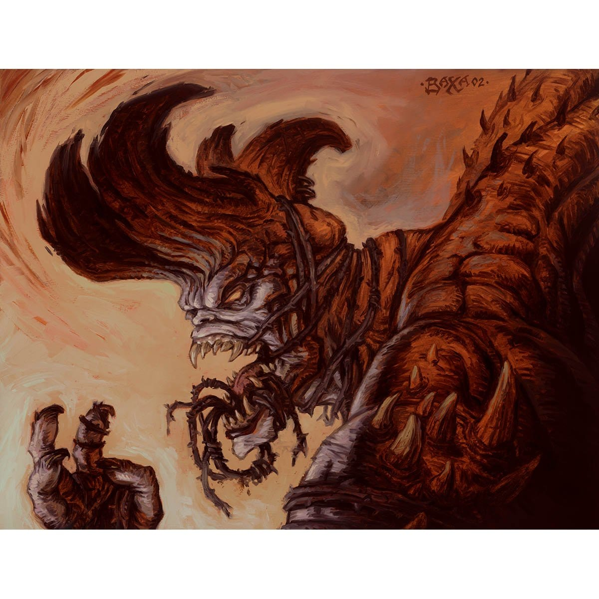 Havoc Demon Print - Print - Original Magic Art - Accessories for Magic the Gathering and other card games