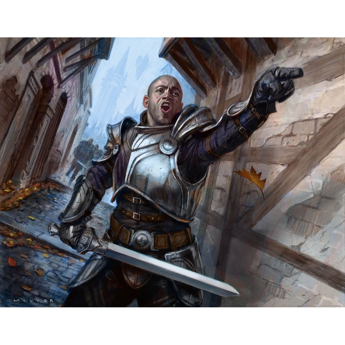 Haazda Officer Print - Print - Original Magic Art - Accessories for Magic the Gathering and other card games