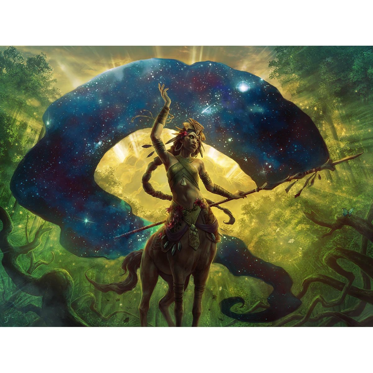 Herald of the Pantheon Print - Print - Original Magic Art - Accessories for Magic the Gathering and other card games