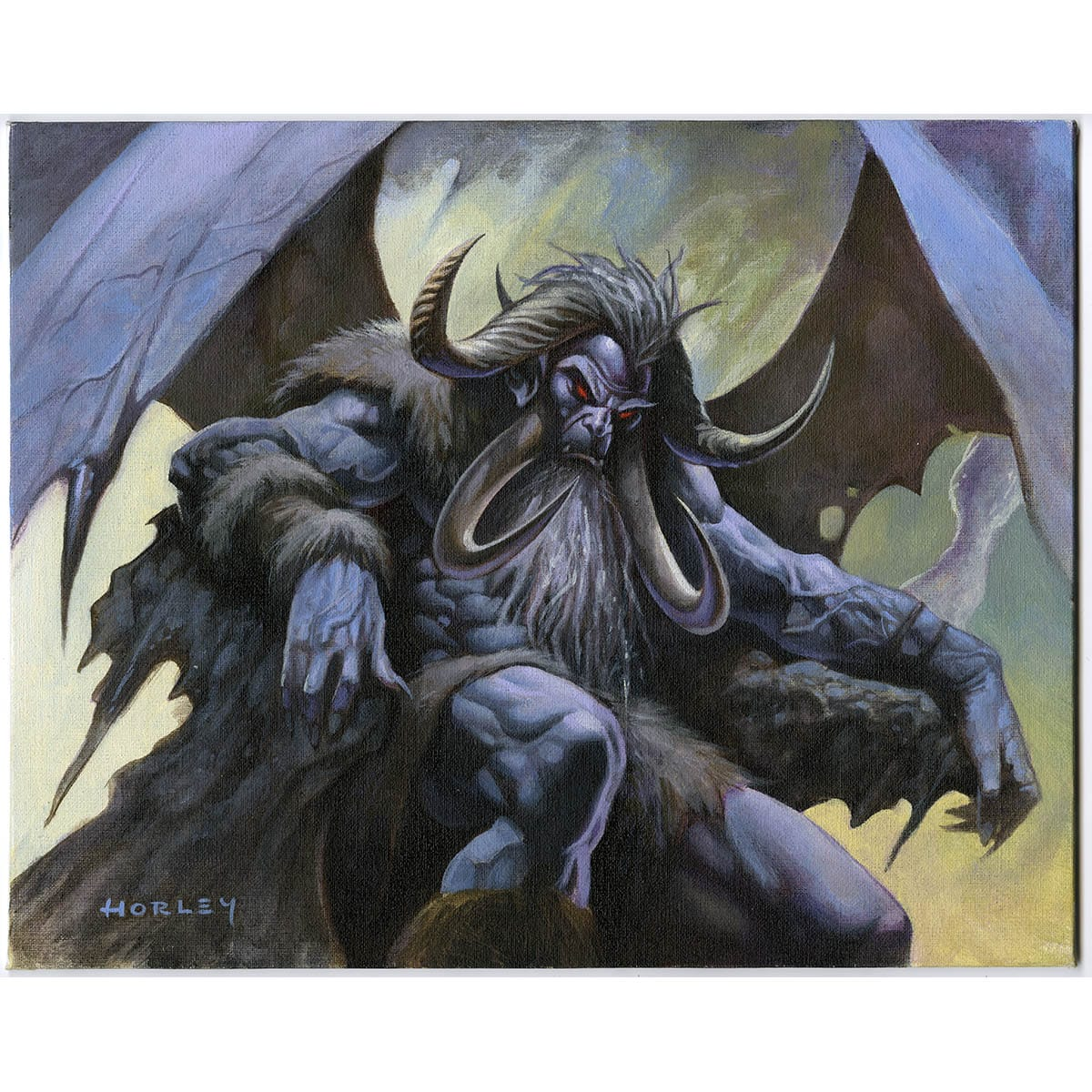 Herald of Leshrac Print - Print - Original Magic Art - Accessories for Magic the Gathering and other card games