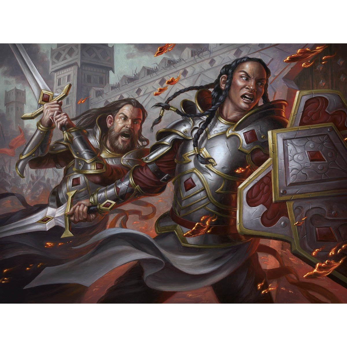 Heroic Reinforcements Print - Print - Original Magic Art - Accessories for Magic the Gathering and other card games