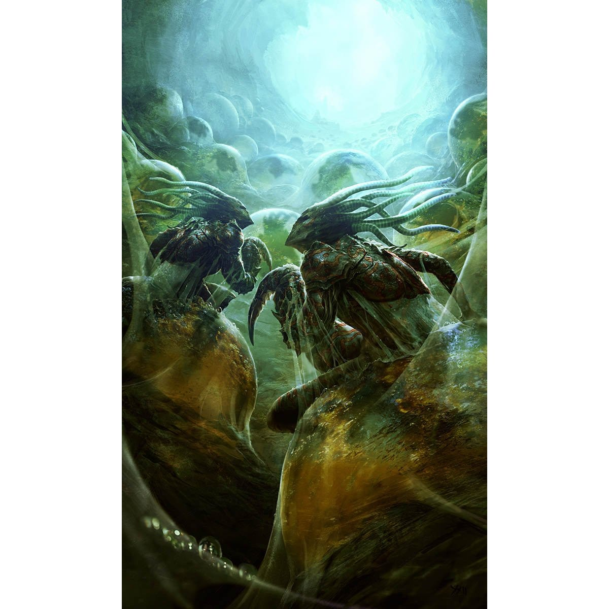 Hive Stirrings Print - Print - Original Magic Art - Accessories for Magic the Gathering and other card games