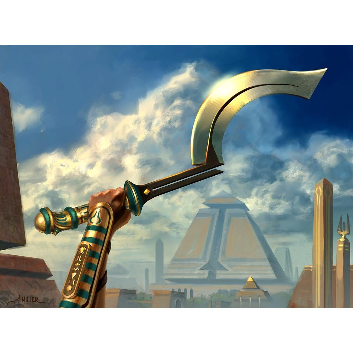 Honed Khopesh Print - Print - Original Magic Art - Accessories for Magic the Gathering and other card games