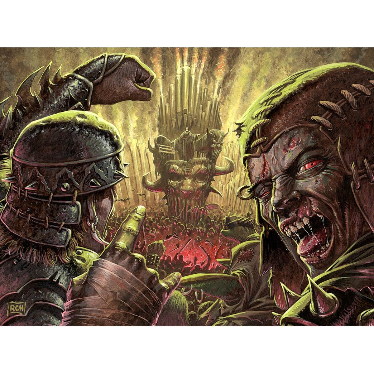 Anthem of Rakdos Print - Print - Original Magic Art - Accessories for Magic the Gathering and other card games