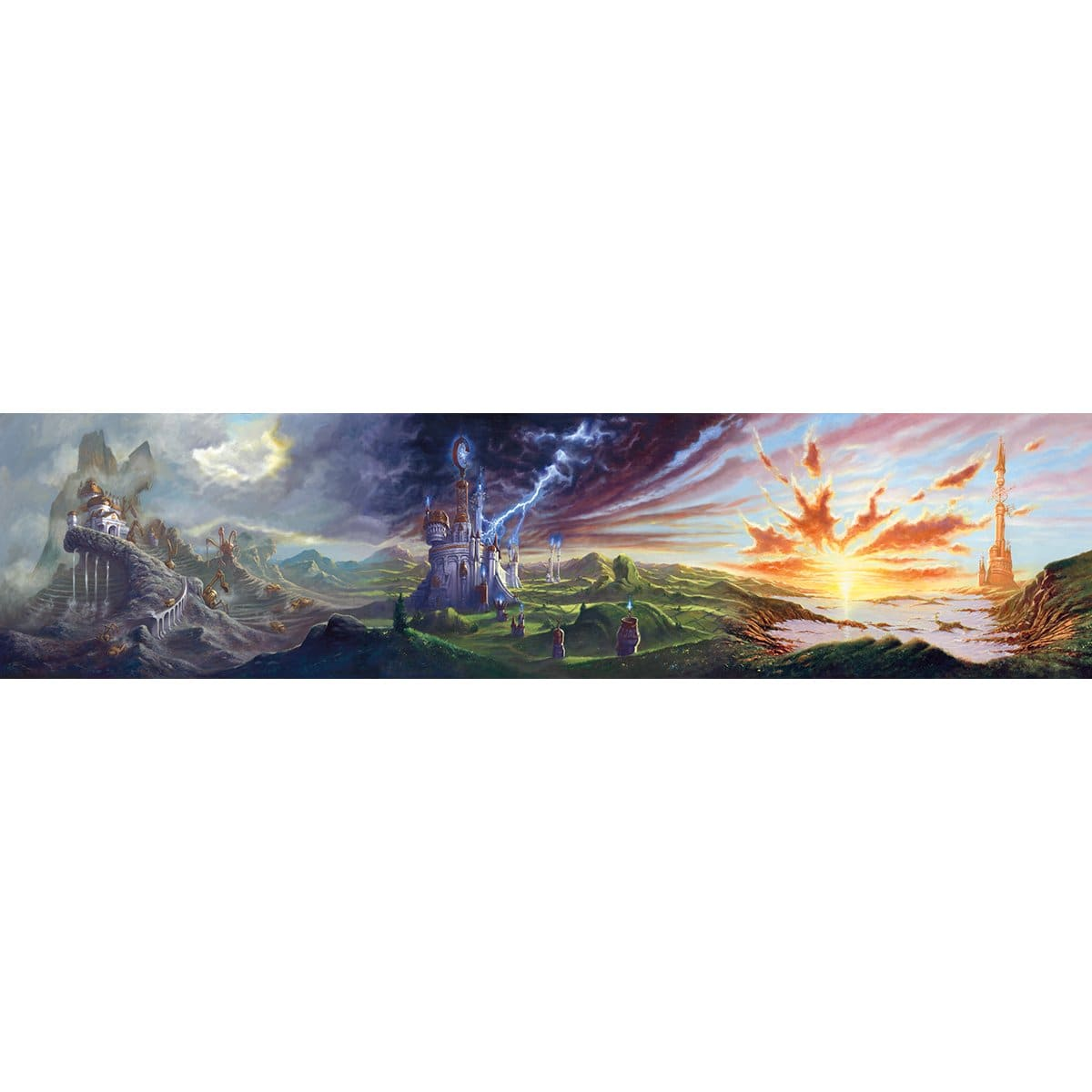 Urza's Power Plant, Tower, Mine Panorama Print