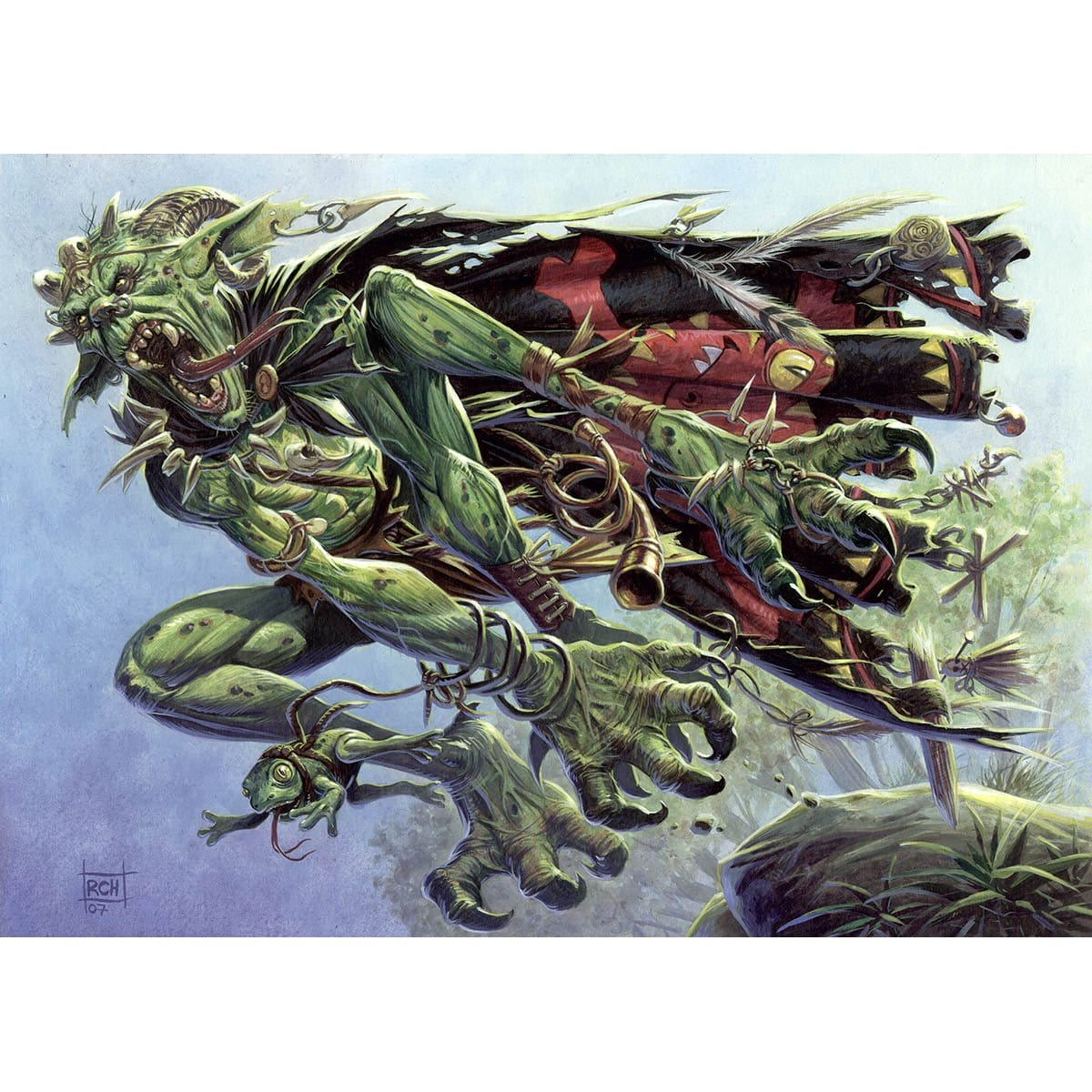 Frogtosser Banneret Print - Print - Original Magic Art - Accessories for Magic the Gathering and other card games