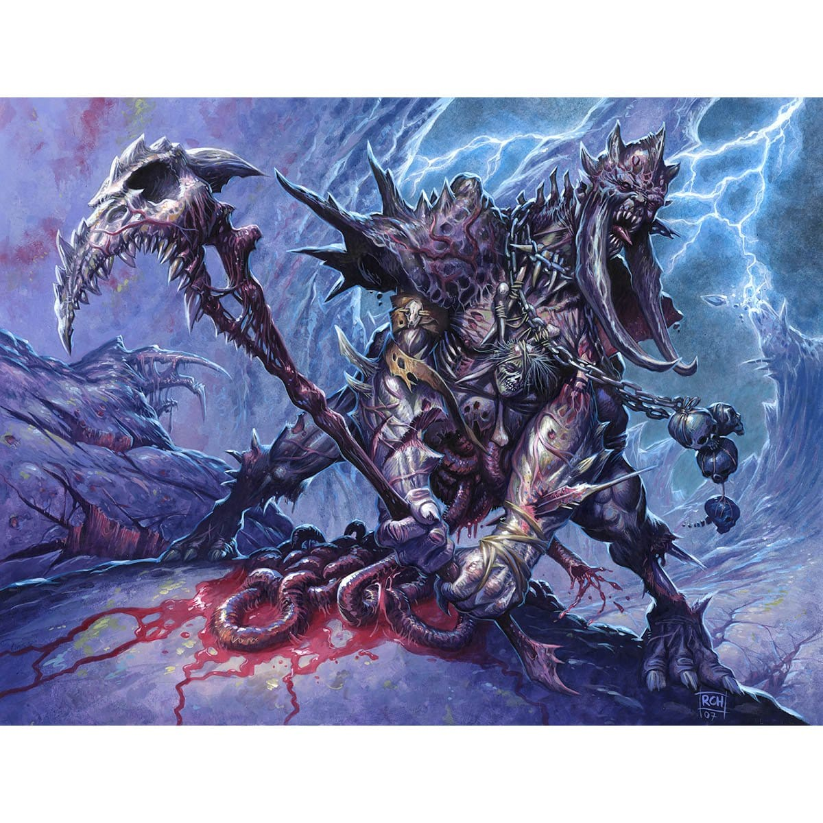 Viscera Dragger Print - Print - Original Magic Art - Accessories for Magic the Gathering and other card games