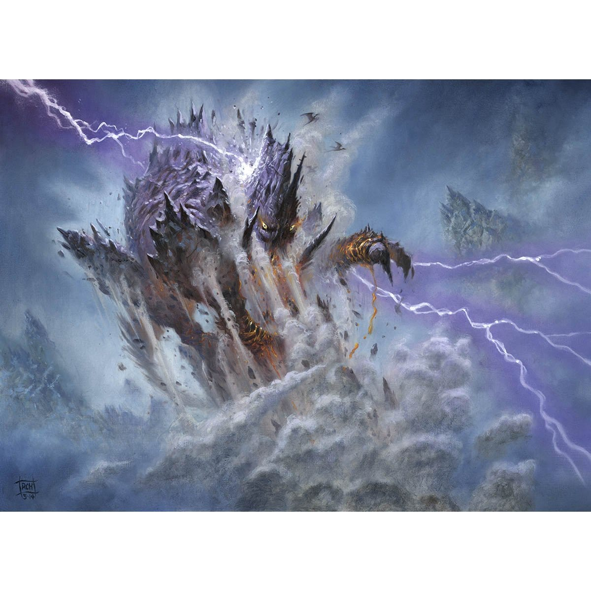 Stormcrag Elemental Print - Print - Original Magic Art - Accessories for Magic the Gathering and other card games