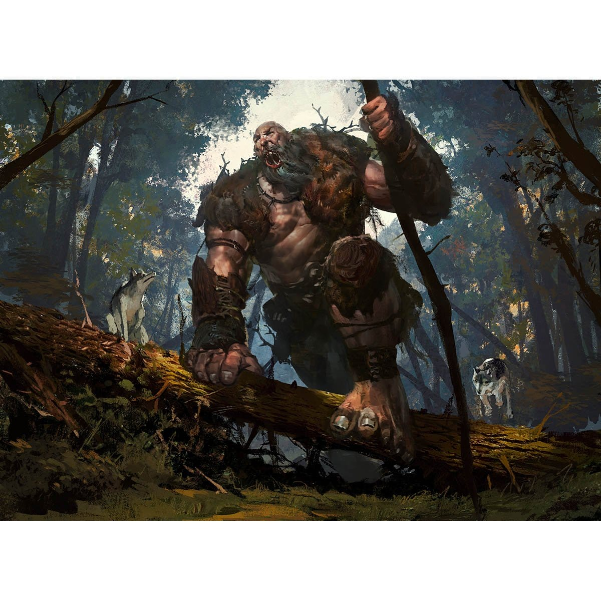 Howling Giant Print - Print - Original Magic Art - Accessories for Magic the Gathering and other card games