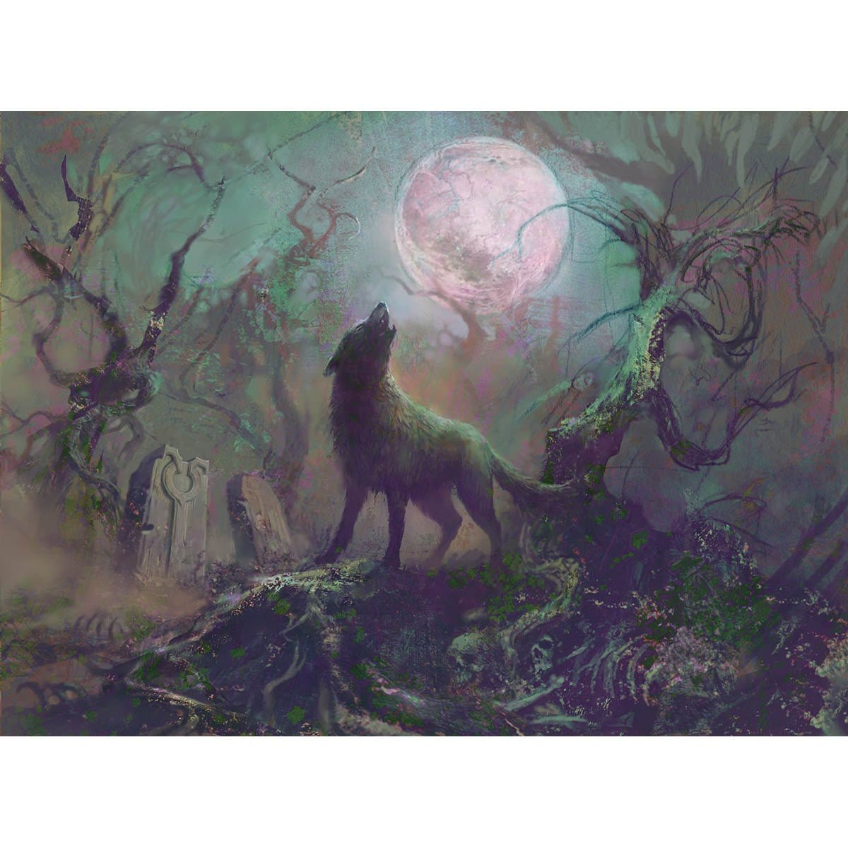 Howling Wolf Print
