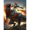 Huatli, Dinosaur Knight Print - Print - Original Magic Art - Accessories for Magic the Gathering and other card games