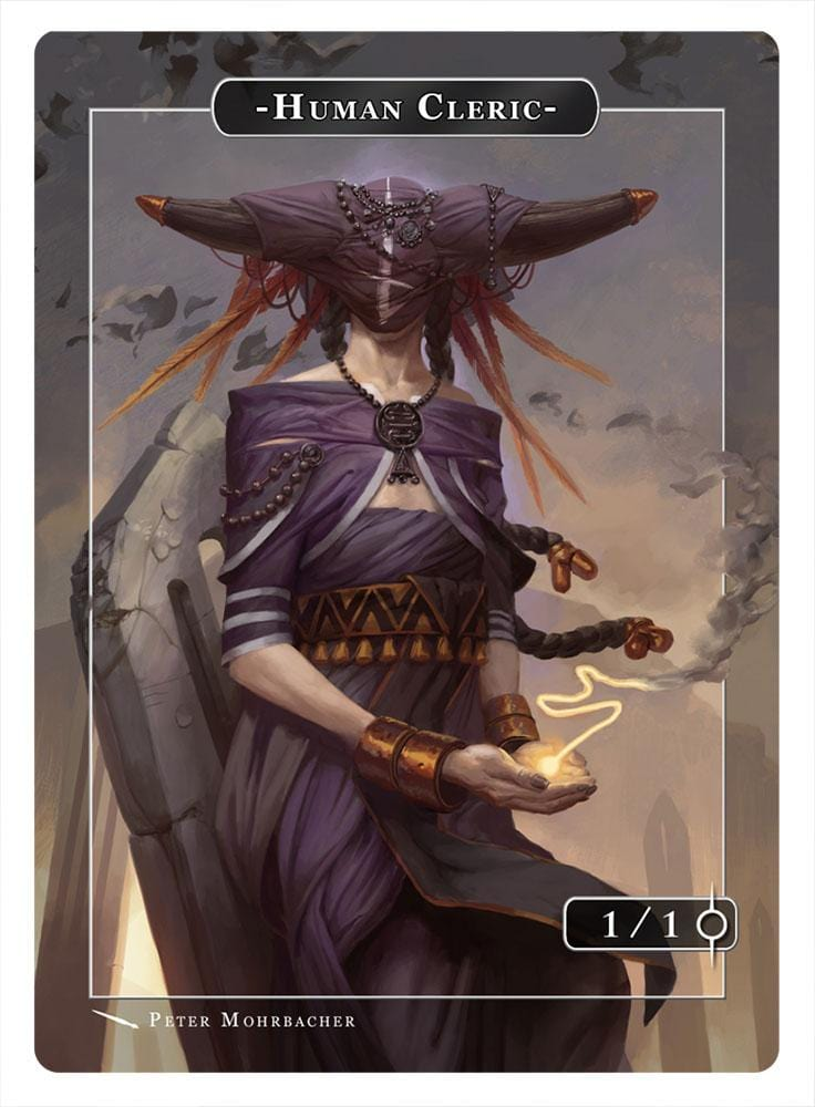 Human Cleric Token (1/1) by Peter Mohrbacher