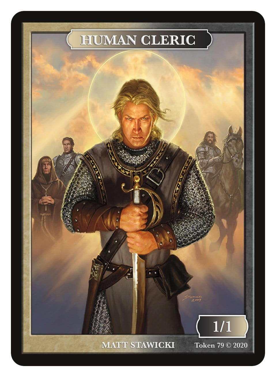 Human Cleric Token (1/1) by Matt Stawicki