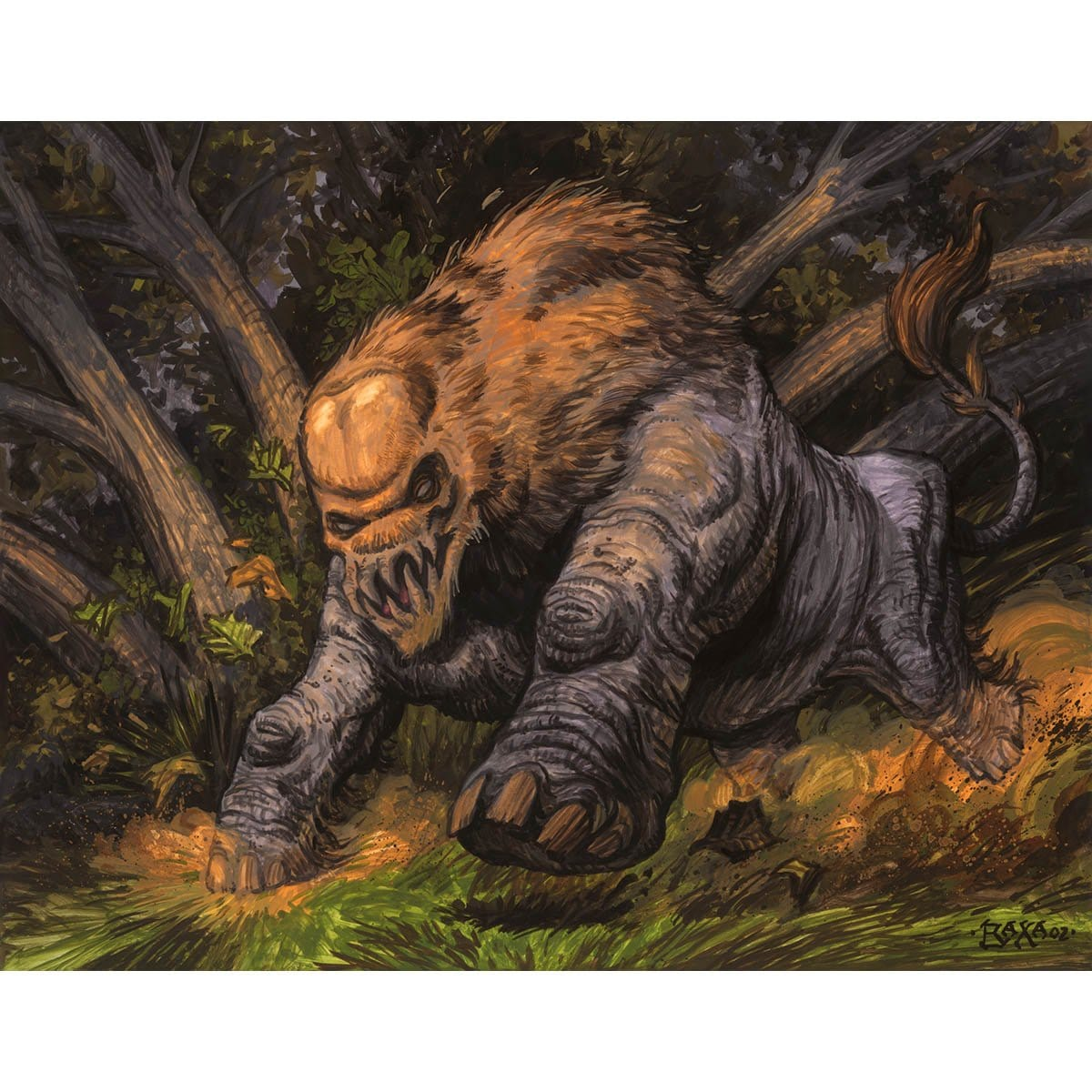 Hunted Wumpus Print - Print - Original Magic Art - Accessories for Magic the Gathering and other card games
