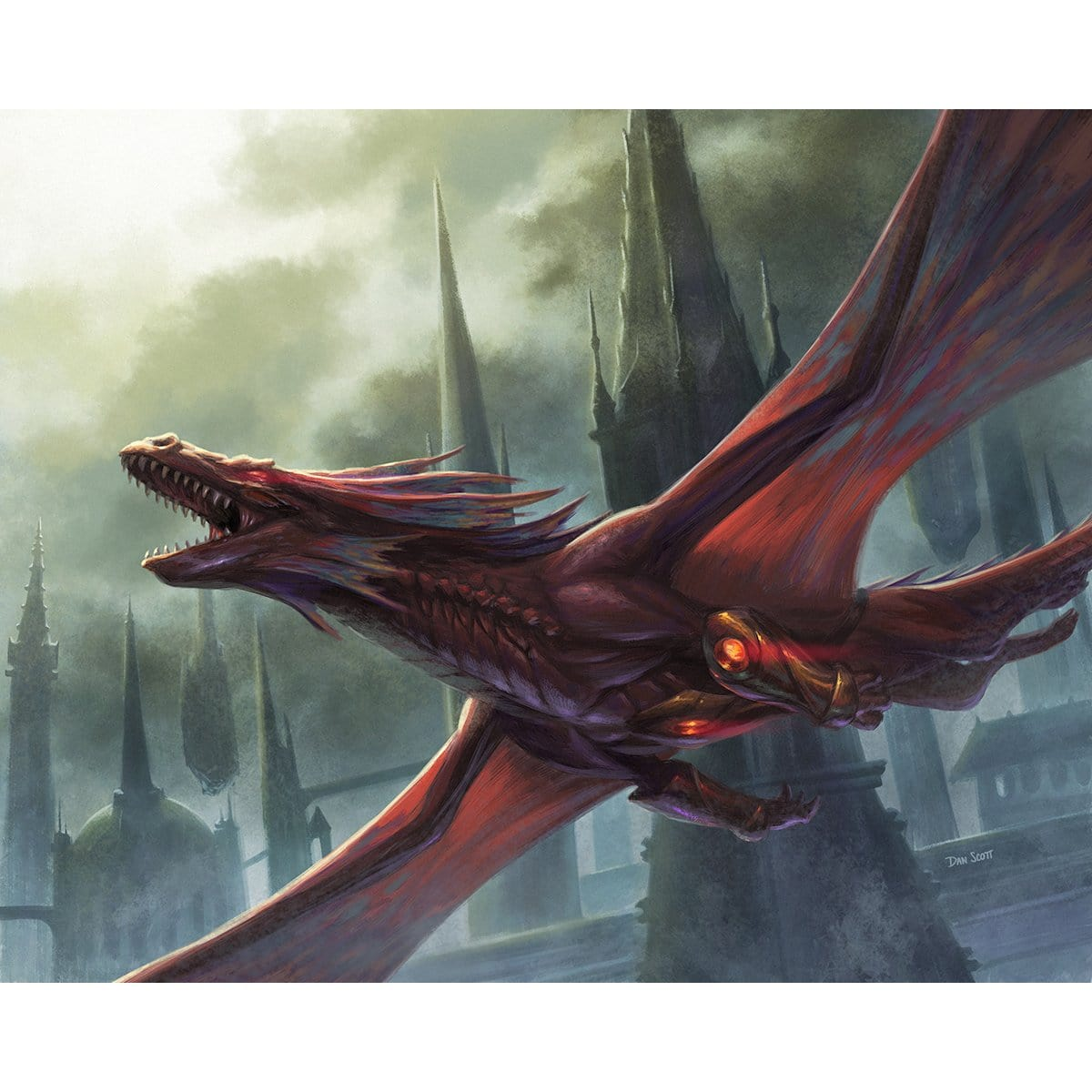 Hypersonic Dragon Print - Print - Original Magic Art - Accessories for Magic the Gathering and other card games