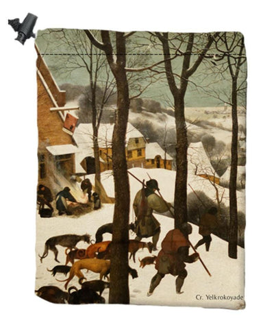 Ice Dice Bag by Pieter Bruegel the Elder - Dice Bag - Original Magic Art - Accessories for Magic the Gathering and other card games