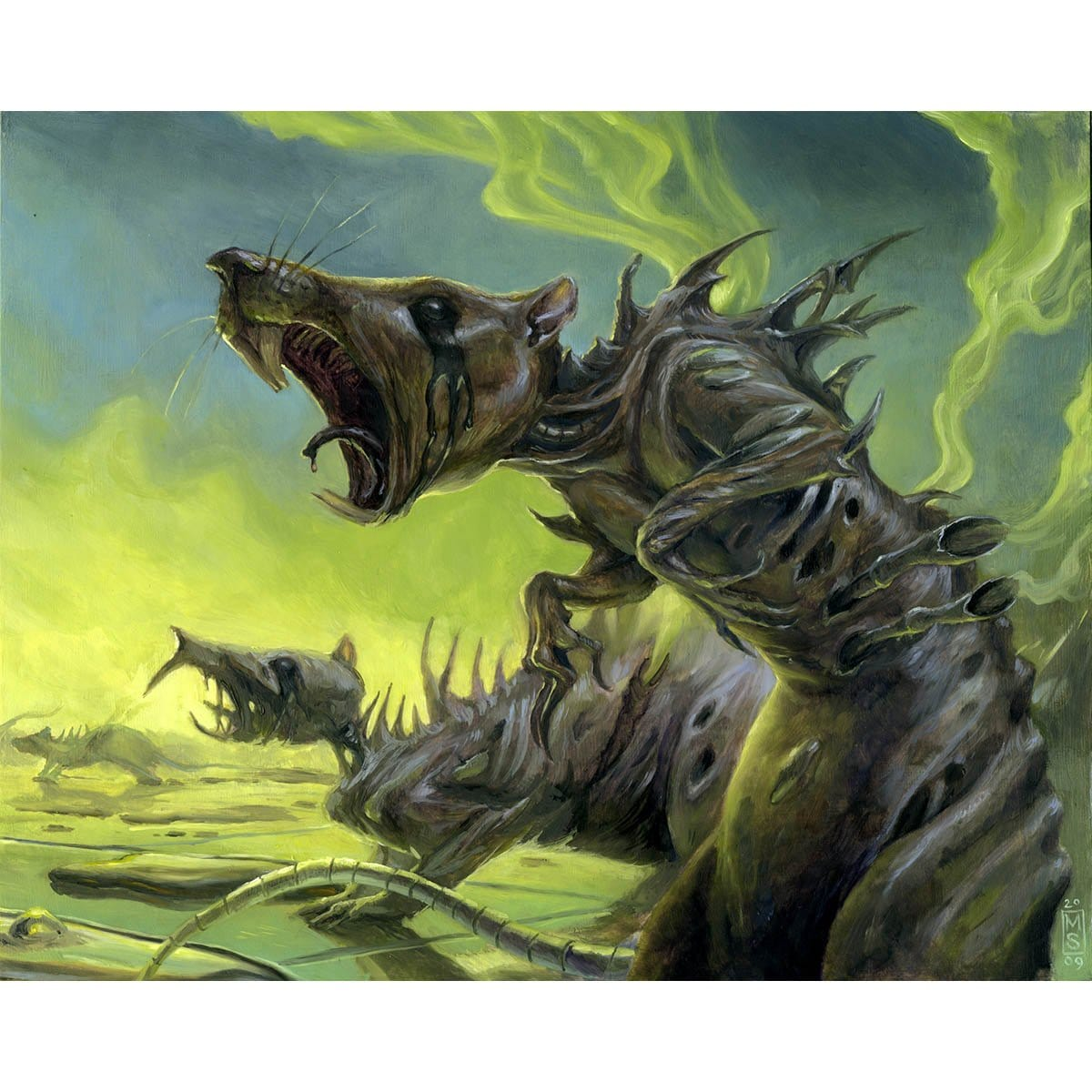 Ichor Rats Print - Print - Original Magic Art - Accessories for Magic the Gathering and other card games