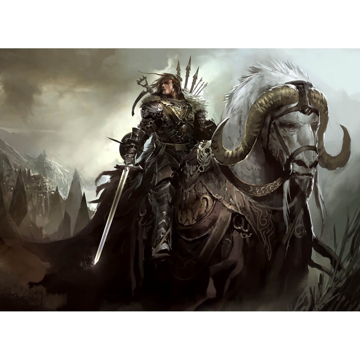 Ikiral Outrider Print - Print - Original Magic Art - Accessories for Magic the Gathering and other card games