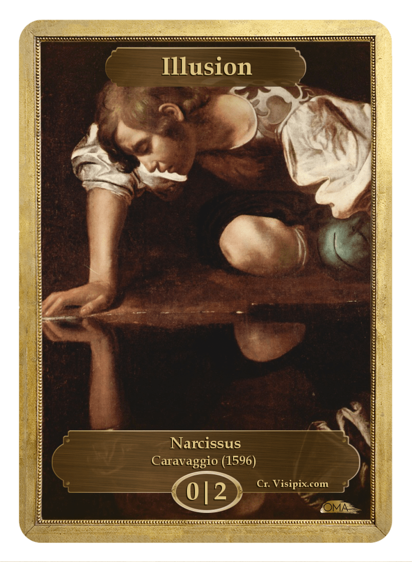 Illusion Token (0/2) by Caravaggio - Token - Original Magic Art - Accessories for Magic the Gathering and other card games