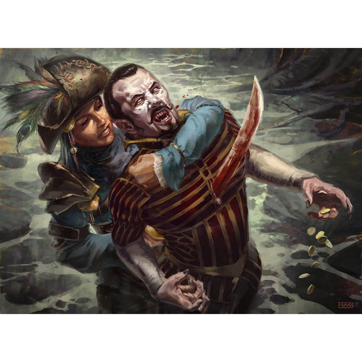 Impale Print - Print - Original Magic Art - Accessories for Magic the Gathering and other card games