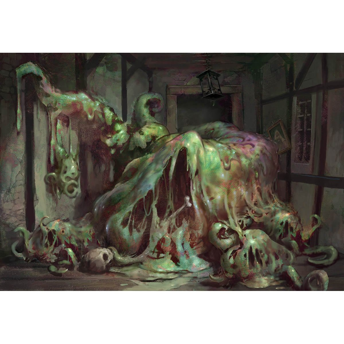 Inexorable Blob Print - Print - Original Magic Art - Accessories for Magic the Gathering and other card games