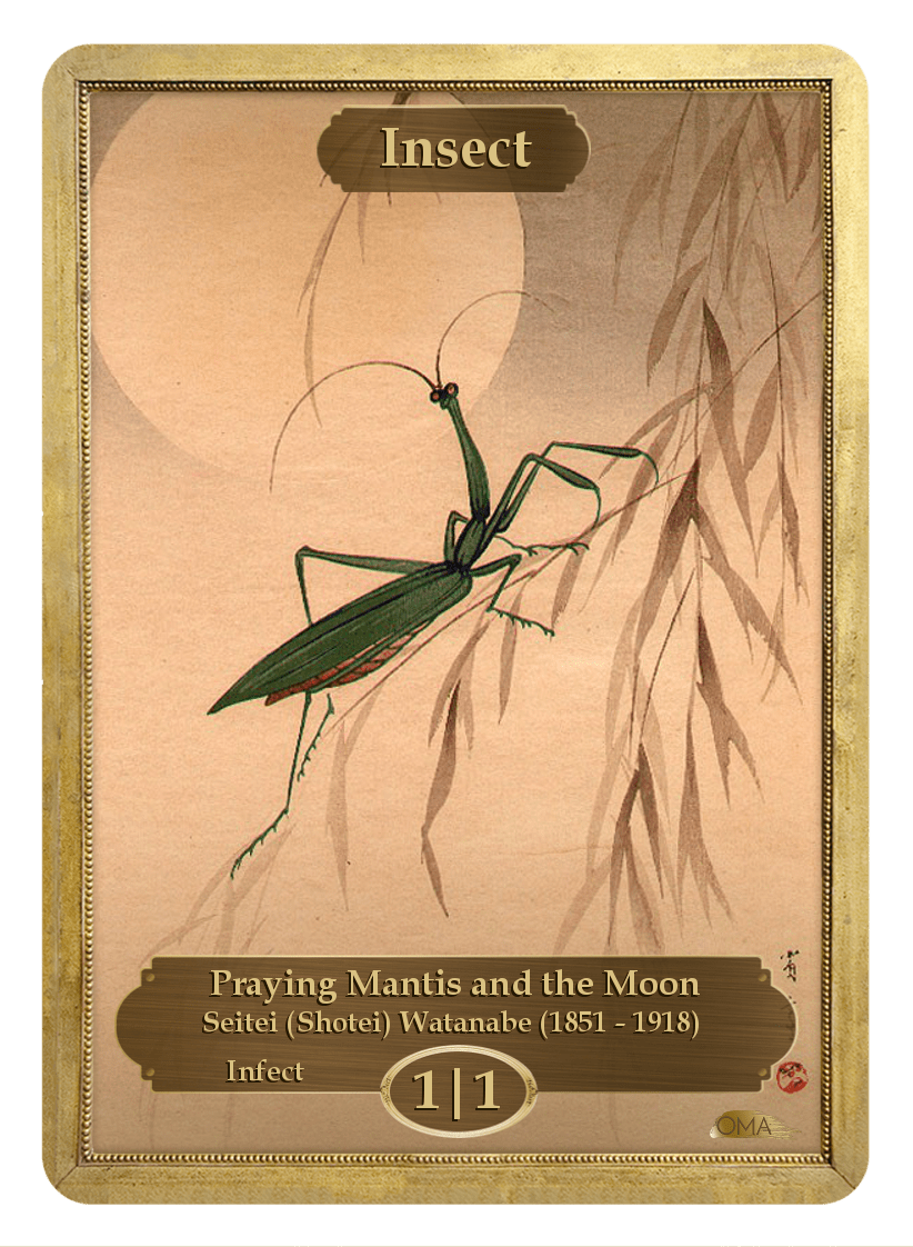 Insect Token (1/1 - Infect) by Seitei Watanabe - Token - Original Magic Art - Accessories for Magic the Gathering and other card games