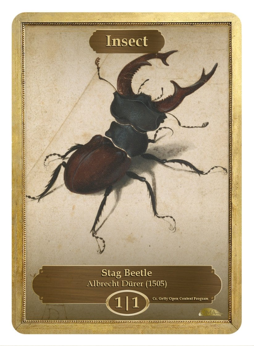 Insect Token (1/1) by Albrecht Dürer - Token - Original Magic Art - Accessories for Magic the Gathering and other card games