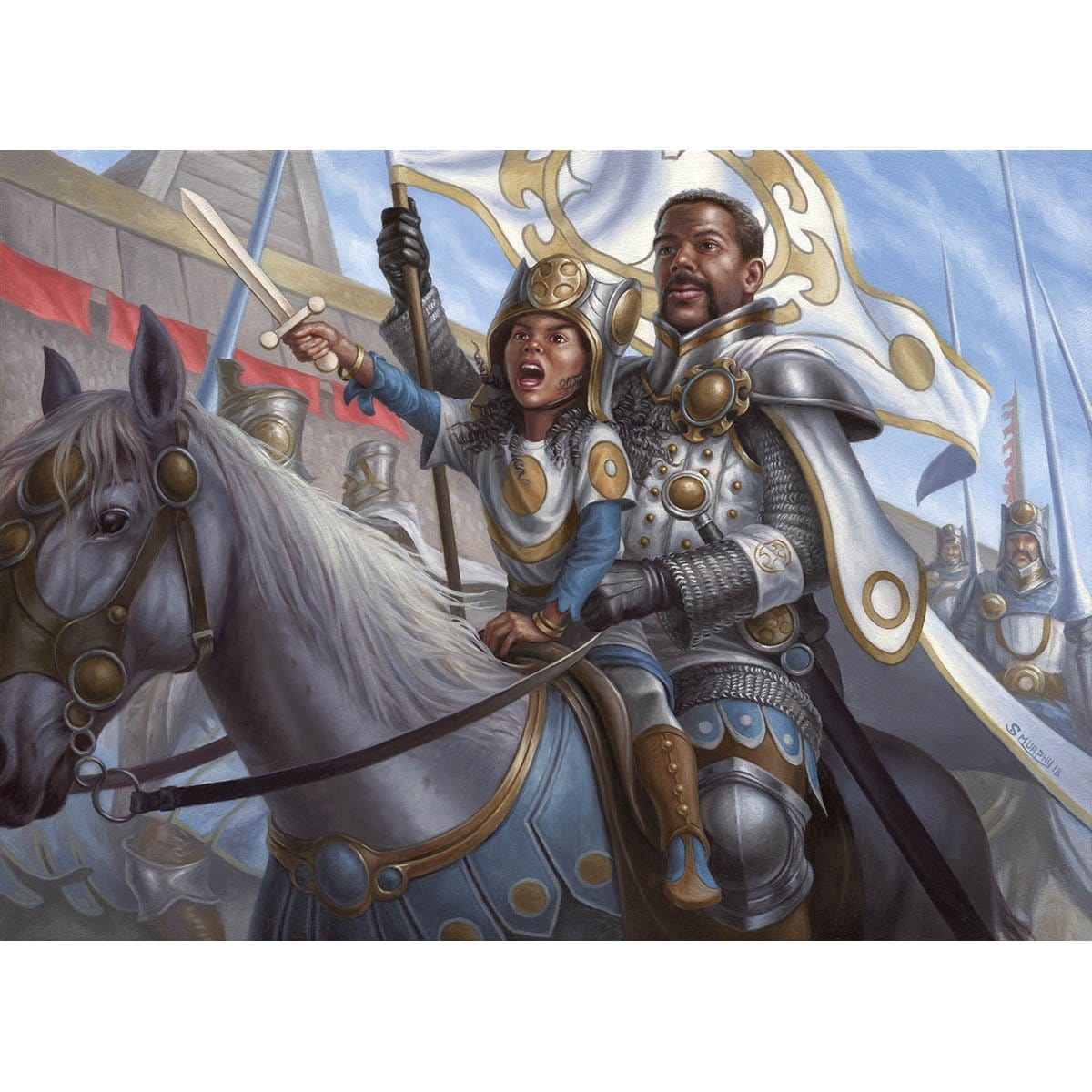 Inspiring Veteran Print - Print - Original Magic Art - Accessories for Magic the Gathering and other card games