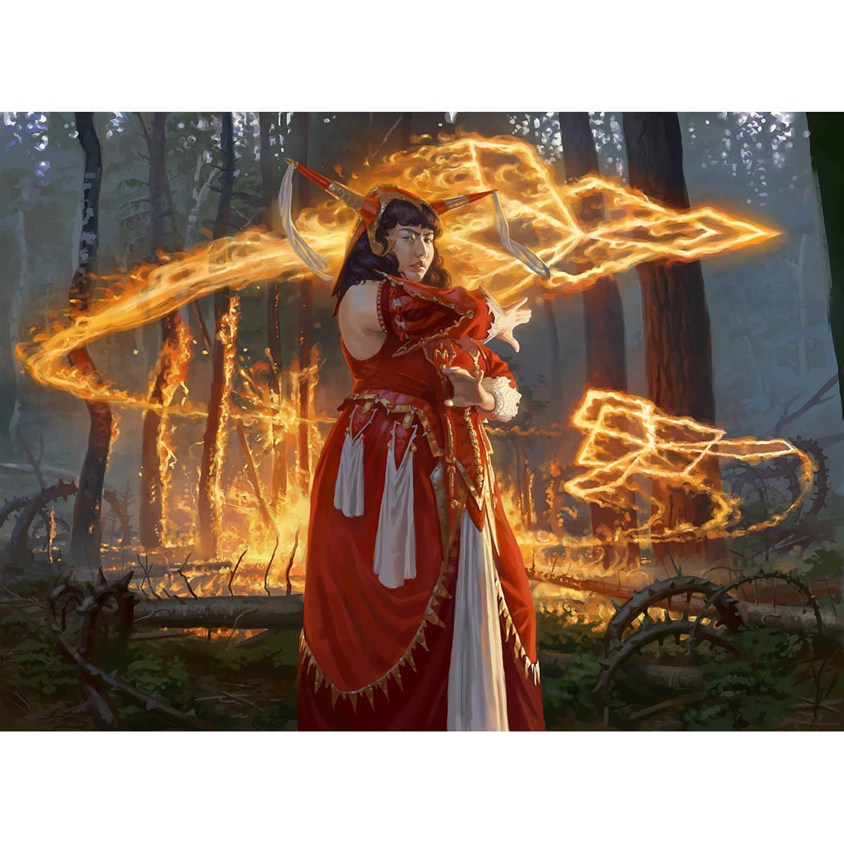 Irencrag Pyromancer Print - Print - Original Magic Art - Accessories for Magic the Gathering and other card games