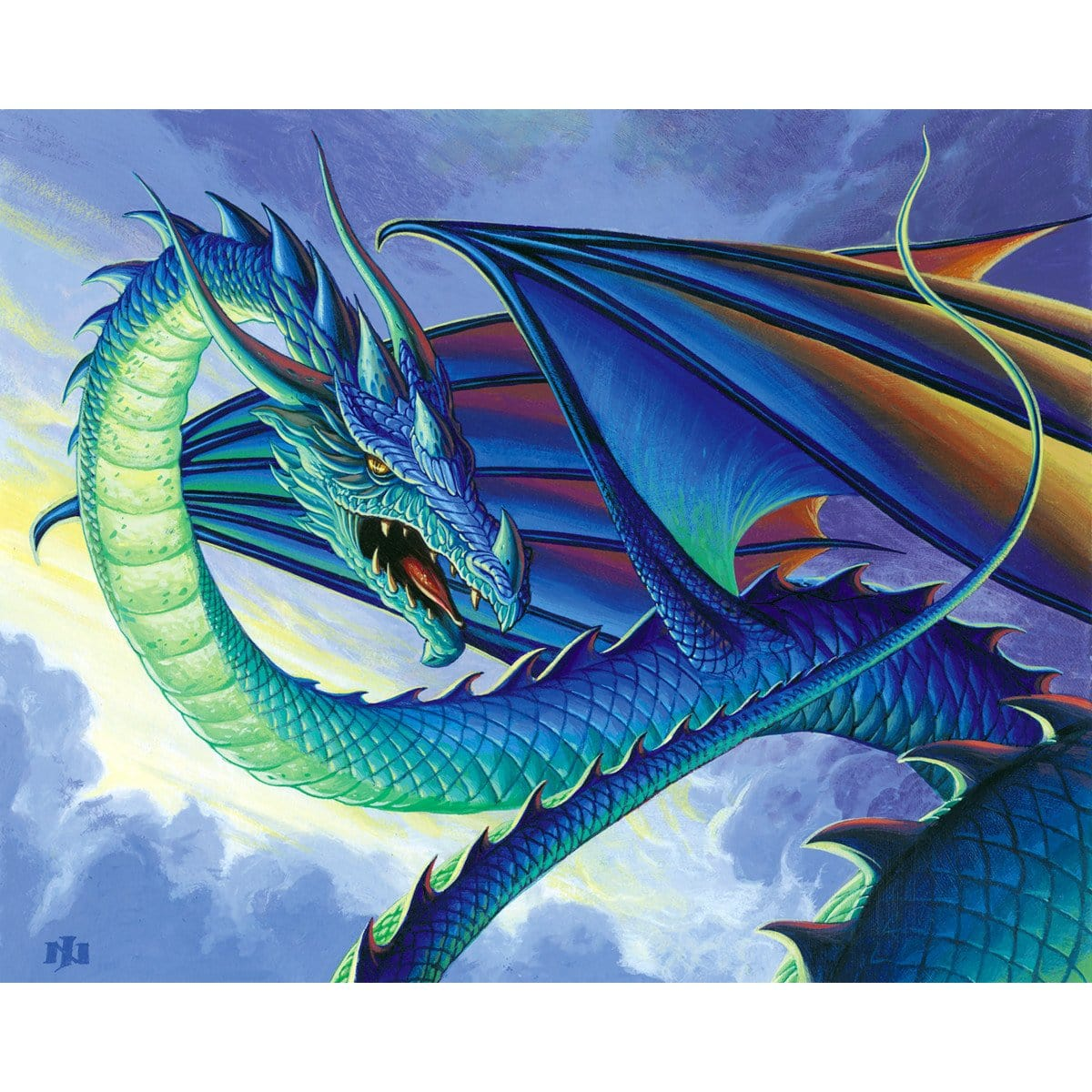 Iridescent Drake Print - Print - Original Magic Art - Accessories for Magic the Gathering and other card games