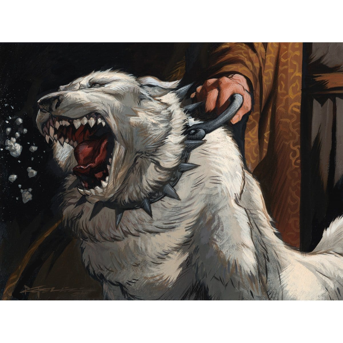 Isamaru, Hound of Konda Print - Print - Original Magic Art - Accessories for Magic the Gathering and other card games