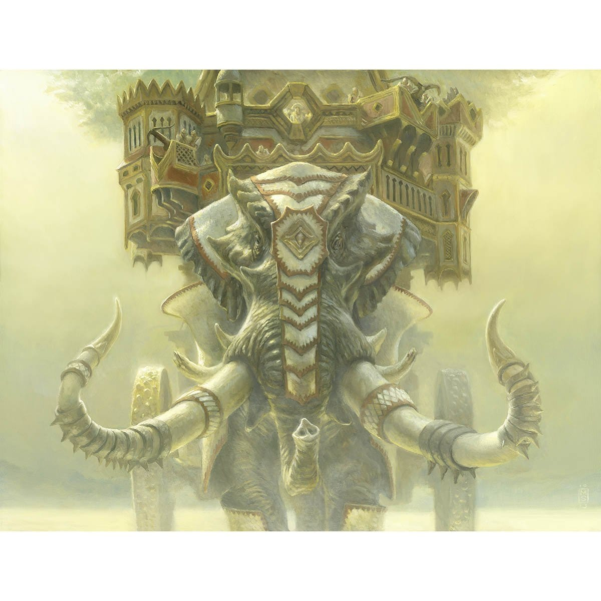Ivorytusk Fortress Print - Print - Original Magic Art - Accessories for Magic the Gathering and other card games