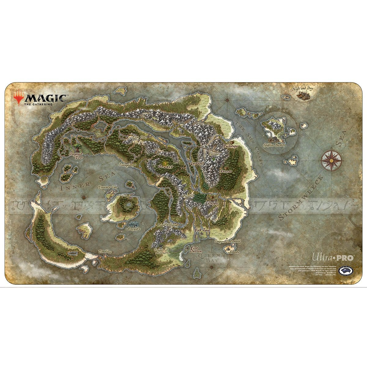 Ixalan Map Playmat - Playmat - Original Magic Art - Accessories for Magic the Gathering and other card games