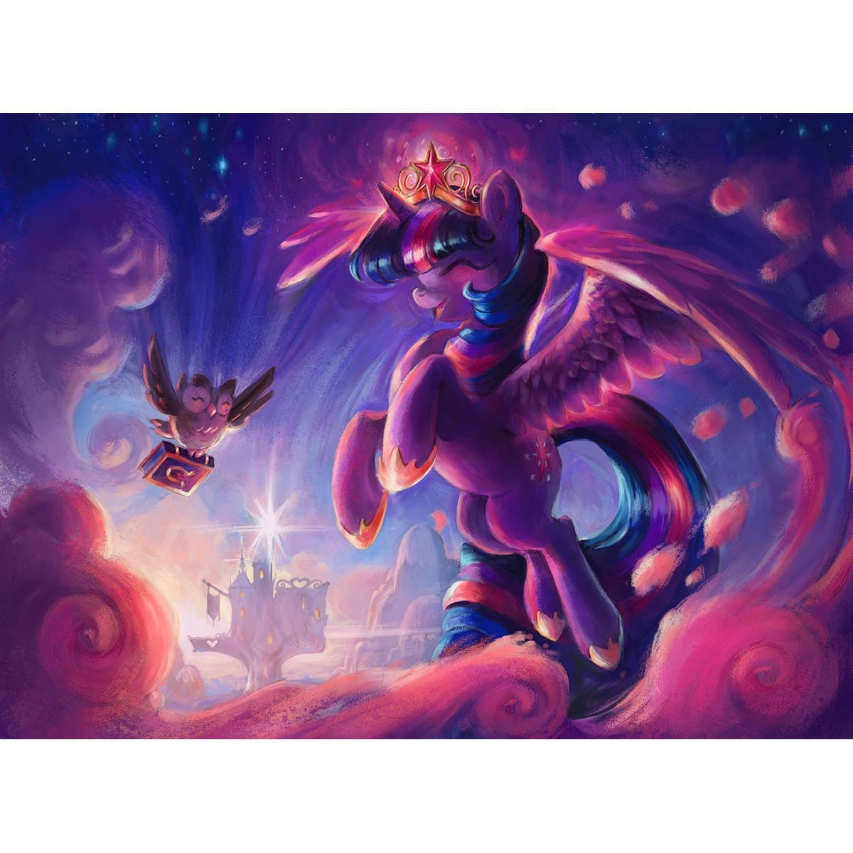 Princess Twilight Sparkle Print - Print - Original Magic Art - Accessories for Magic the Gathering and other card games