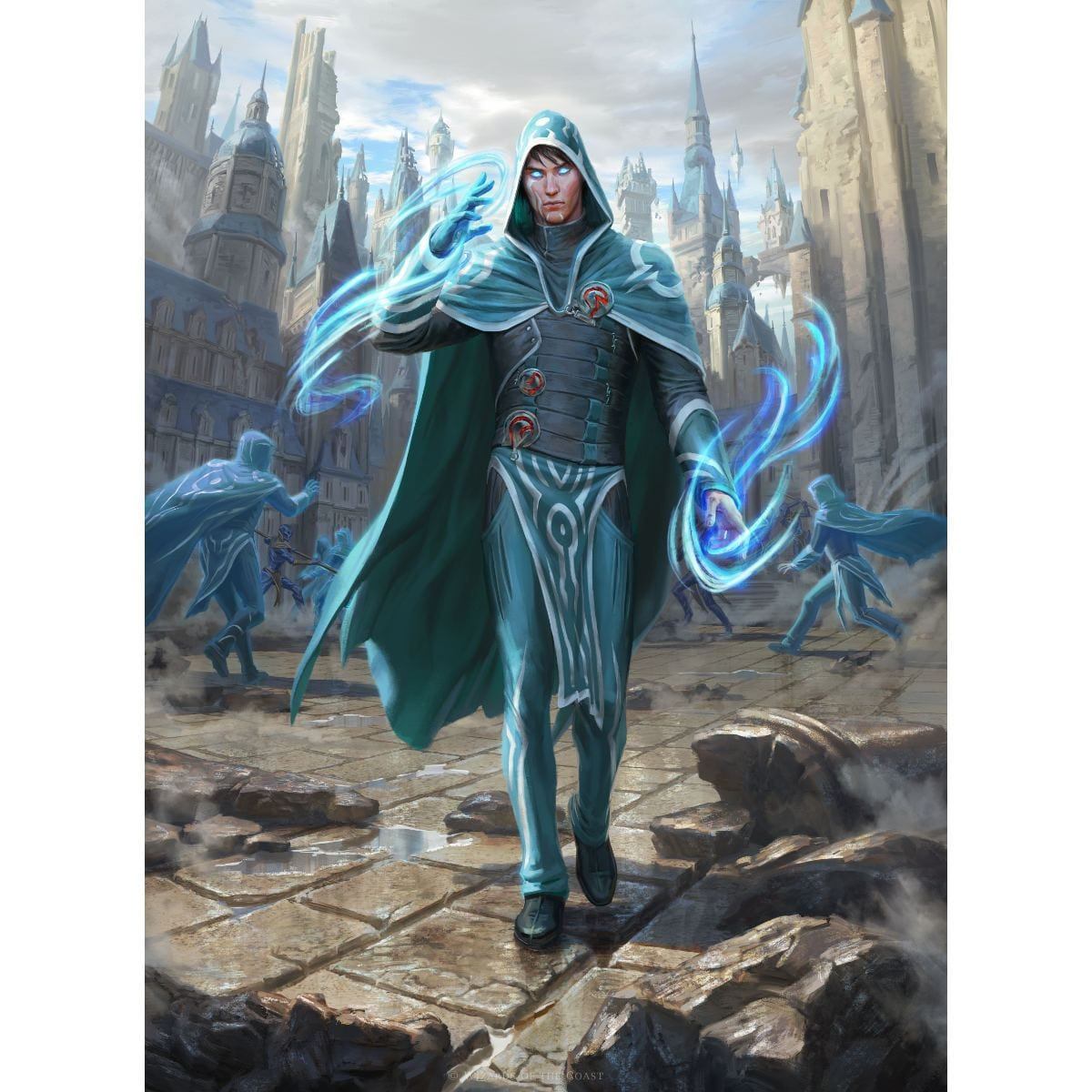 Jace, Wielder of Mysteries Print - Print - Original Magic Art - Accessories for Magic the Gathering and other card games