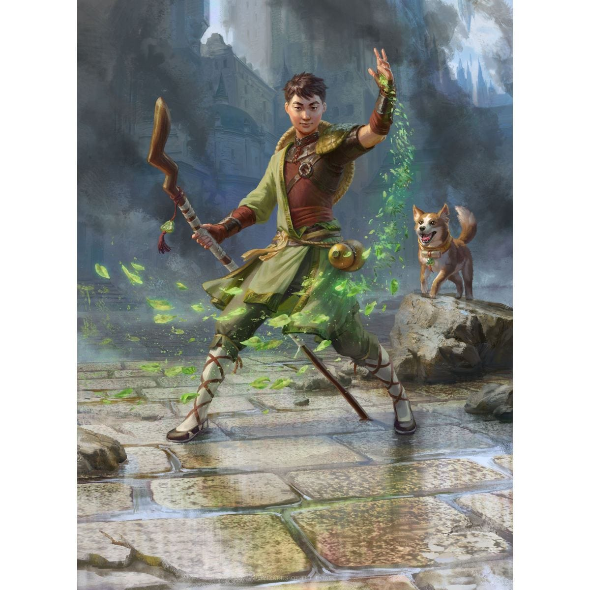 Jiang Yanggu, Wildcrafter Print - Print - Original Magic Art - Accessories for Magic the Gathering and other card games