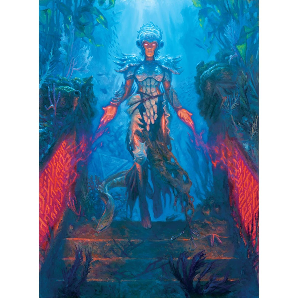Jori En, Ruin Diver Print - Print - Original Magic Art - Accessories for Magic the Gathering and other card games