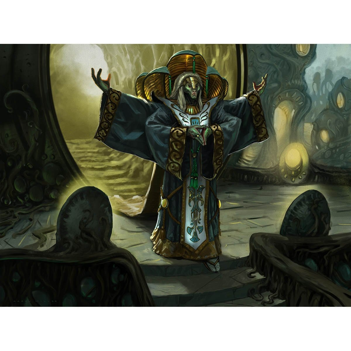 Kaseto, Orochi Archmage Print - Print - Original Magic Art - Accessories for Magic the Gathering and other card games