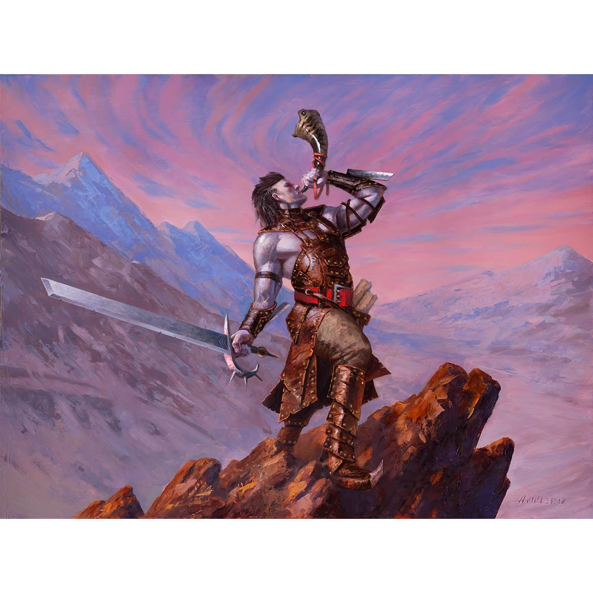 Keldon Warcaller Print - Print - Original Magic Art - Accessories for Magic the Gathering and other card games