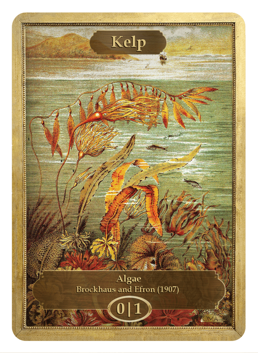 Kelp Token (0/1) by Brockhaus and Efron - Token - Original Magic Art - Accessories for Magic the Gathering and other card games