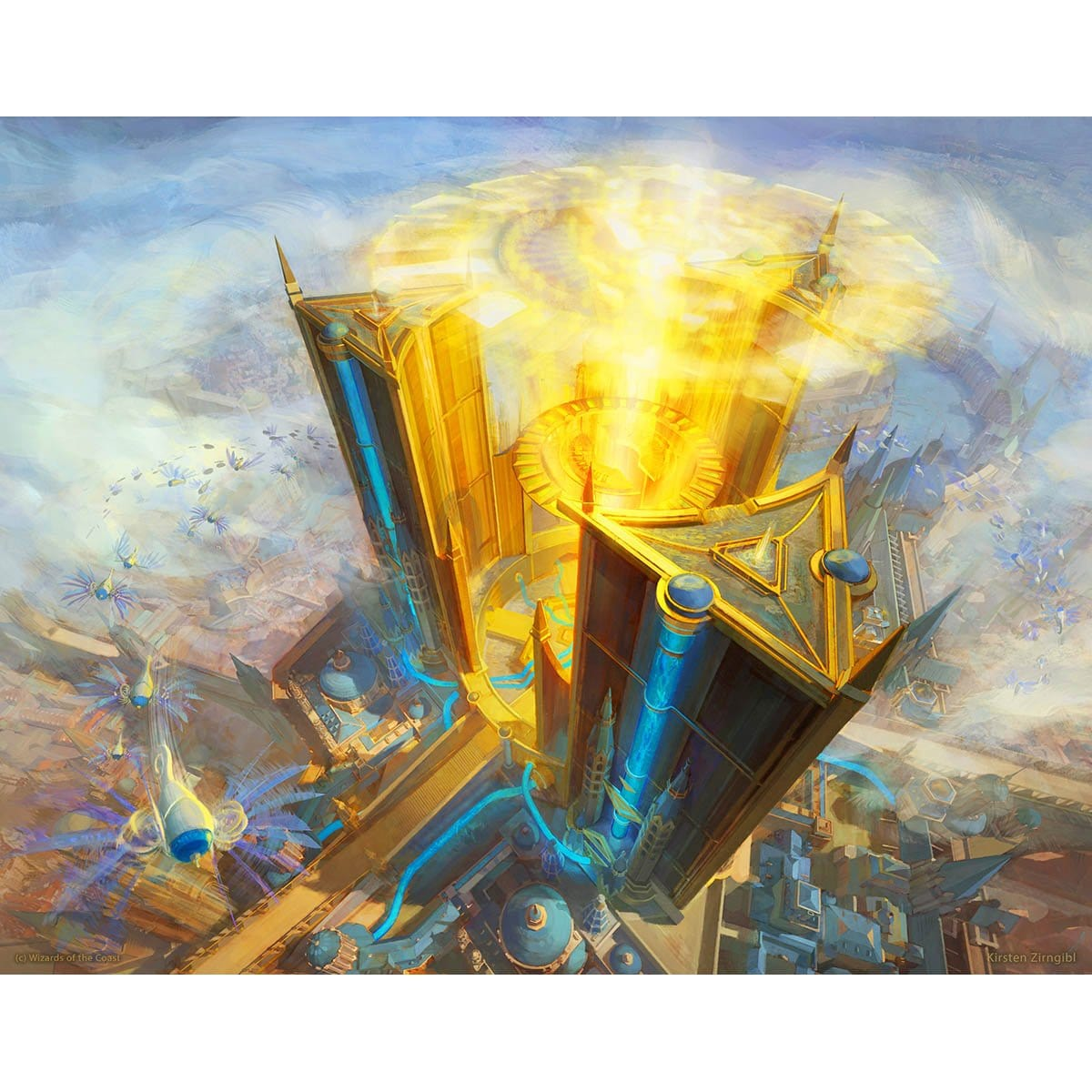 Island (War of the Spark) Print - Print - Original Magic Art - Accessories for Magic the Gathering and other card games