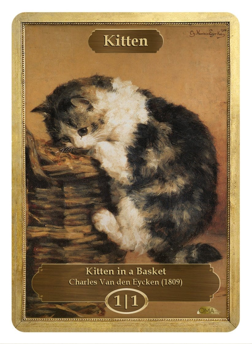 Kitten Token (1/1) by Charles Van den Eycken - Token - Original Magic Art - Accessories for Magic the Gathering and other card games