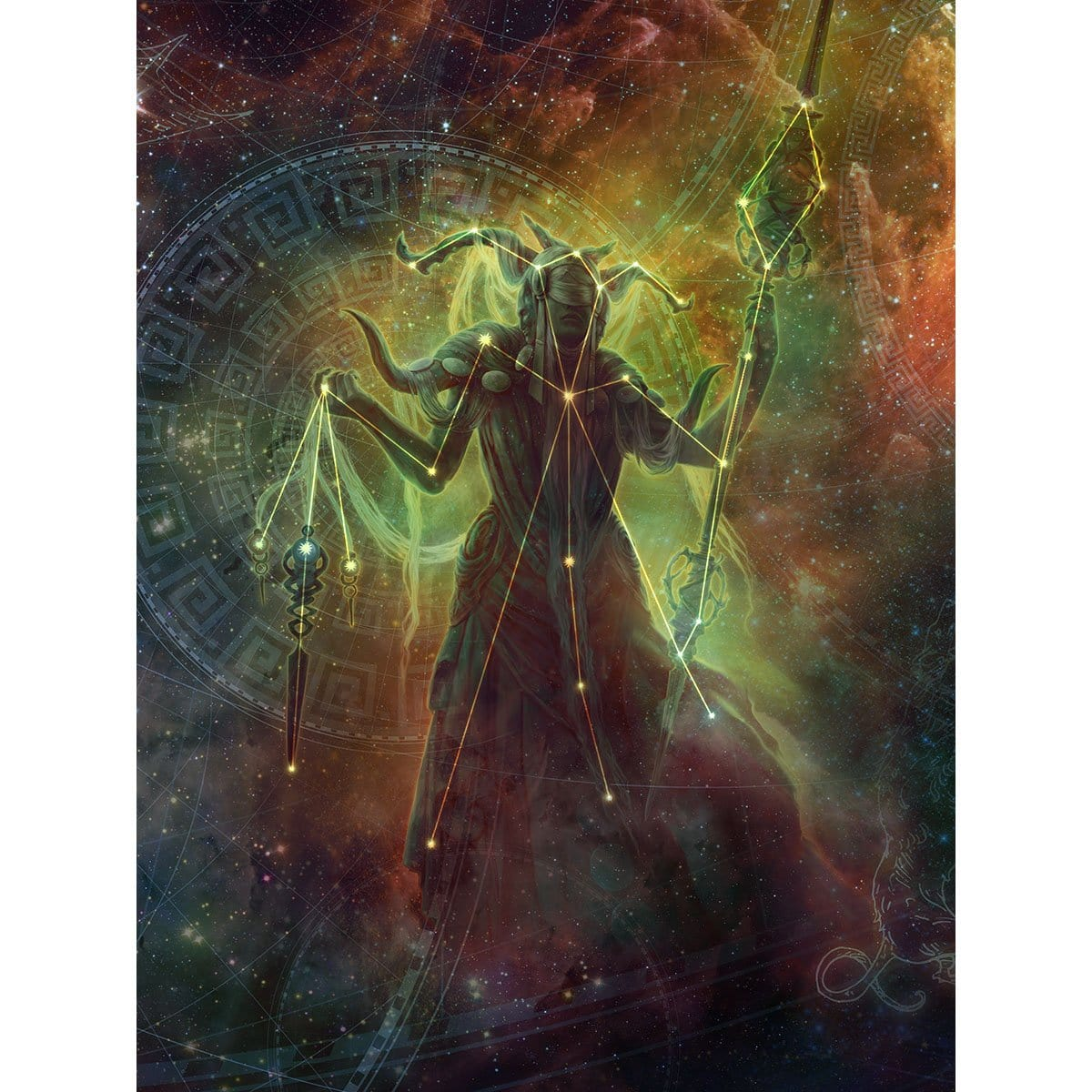 Klothys, God of Destiny Print - Print - Original Magic Art - Accessories for Magic the Gathering and other card games