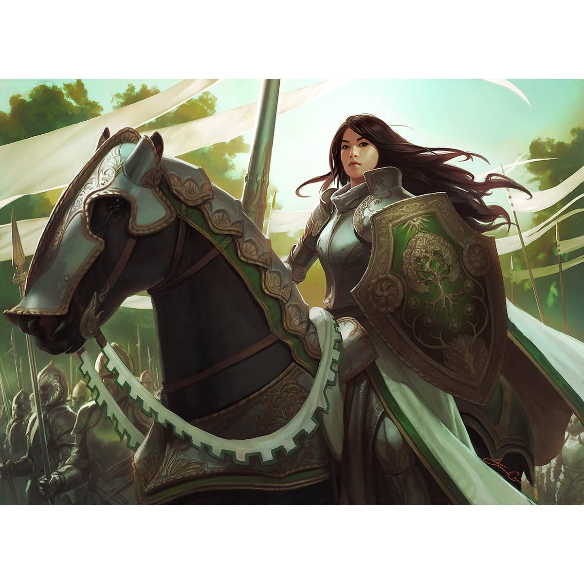 Knight Exemplar Print - Print - Original Magic Art - Accessories for Magic the Gathering and other card games