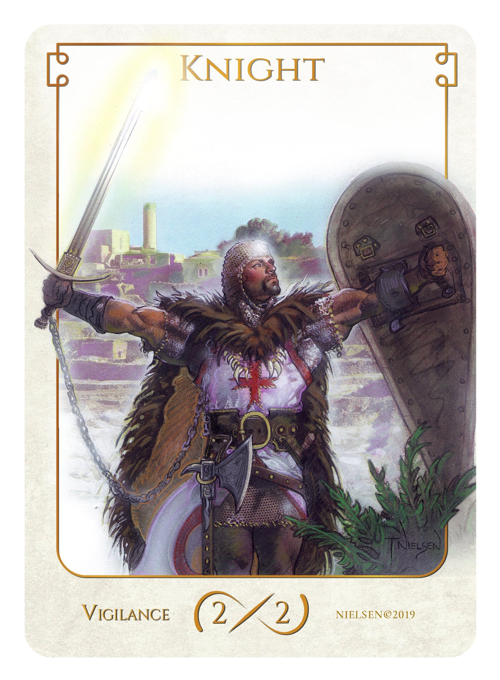 Knight Token (2/2 - Vigilance) by Tokens of Spirit